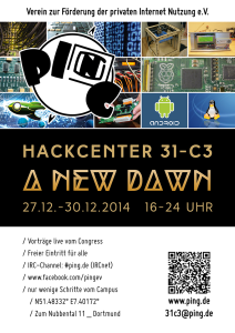 Plakat HackCenter 31C3 - A New Dawn